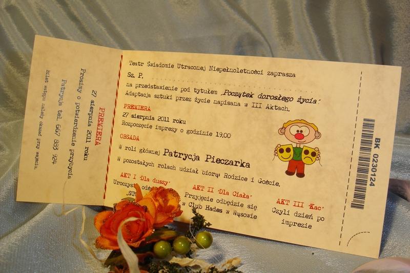 Zaproszenia Urodzinowe 18 Lat Bilety Na Urodziny 20 30 40 50 Lat Itp