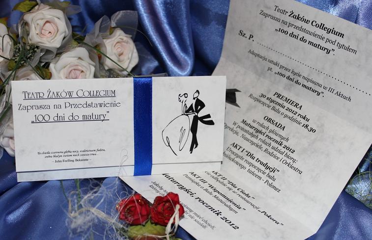 Zaproszenie Na Studniówkę Zaproszenia Studniówkowe I Bal Gimnazjalny