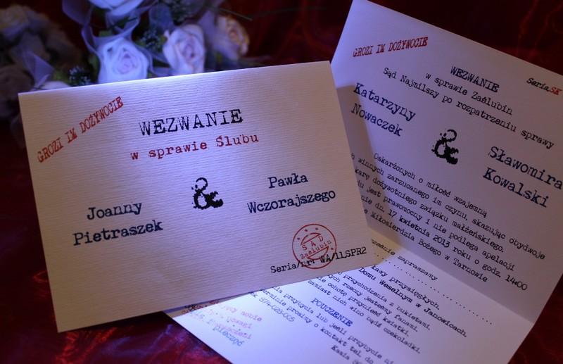 35a20ada7b Zaproszenia Ślubne na Ślub Cywilny Kościelny WEZWANIE - Zaproszenia ...