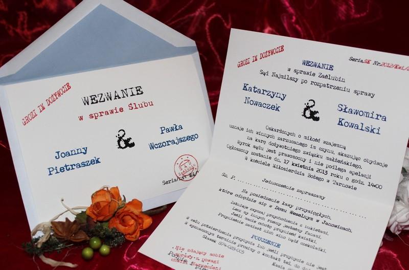 Rewelacyjny Zaproszenia Ślubne na Ślub Cywilny WEZWANIA Wezwanie - Zaproszenia DK59