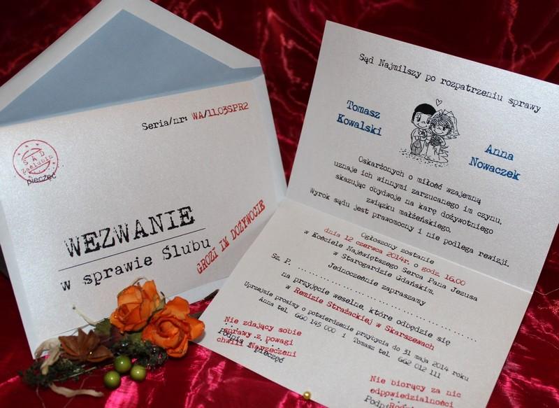 Zaproszenia ślubne Na ślub W Usc Wezwania Zaproszenia ślubne
